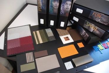 Book di studio colori materiali per Profili - progetto Technogym Club 2.0