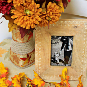 Fabric Wrapped Vase : Thrift Store Upcycle