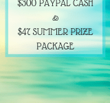 $300 Summer Cash Giveaway and a $47 Prize Pack!