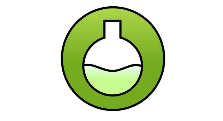 Alquimia Sonora: botón de encendido y matraz.