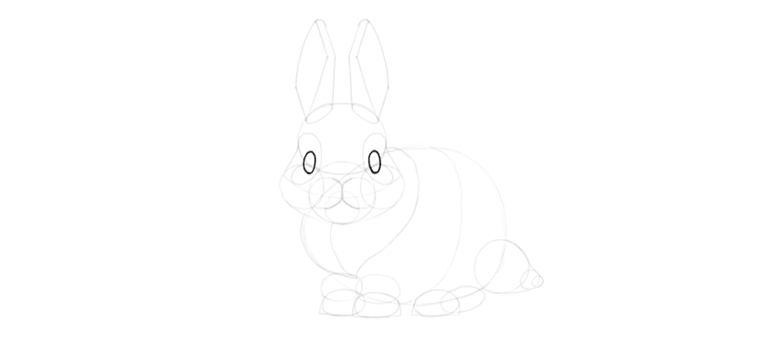 Bunny Eyes Outline
