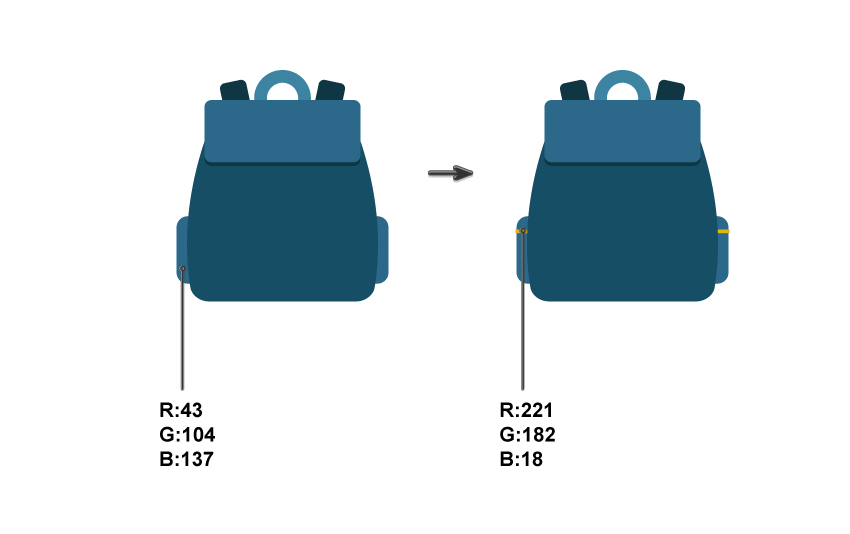 creating the backpack side pockets