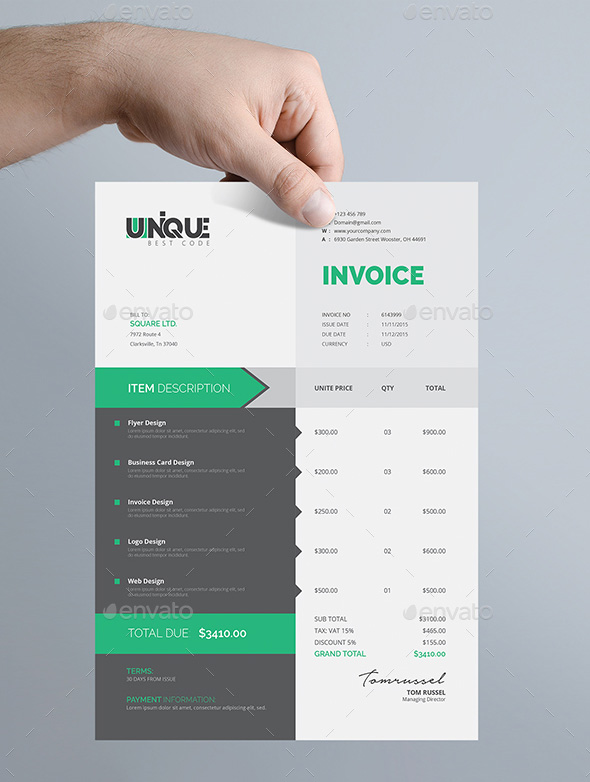 The Best Invoice Payment Terms to Avoid Past Due Invoices Creative Invoice Template