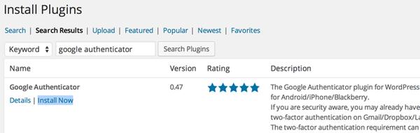 Install the Google Authenticator Plugin