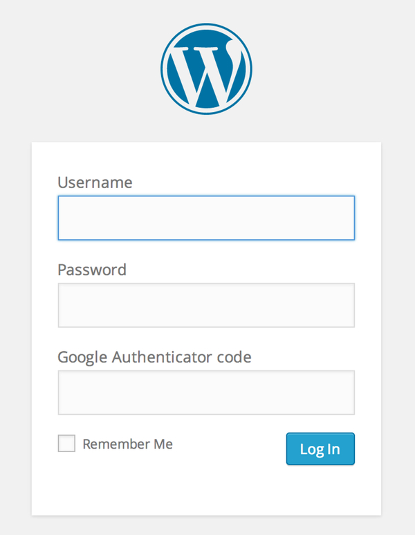 WordPress Login with Google Authenticator Two Factor Authentication