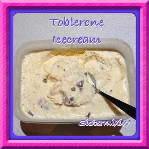 Medium Of Toblerone Ice Cream