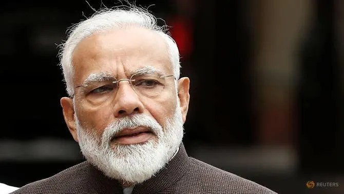 FILE PHOTO:  India's Prime Minister Narendra Modi speaks with the media on the opening day of