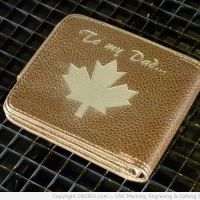 Laser Engraving Genuine Leather Wallets