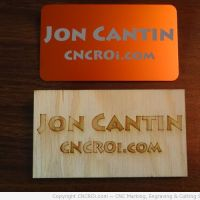 Some of my Name Badges (plywood, anodized aluminium... )