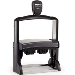 "trodat-54126 Trodat Professional ​54126 Custom Self-Inking Stamp (70 x 116 mm or 2.76 x 4.57"" with double dater)"