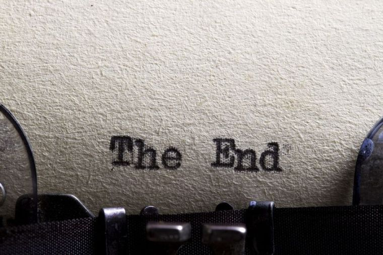 13798394 - the end    written on an old typewriter and old paper