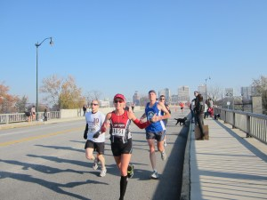 Harrisburg Marathon 2012. En route to a PR until I injured a few miles later. After this race I was forced to stop running for 8 weeks.