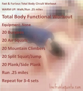 Fast and Furious Total Body Functional Workout
