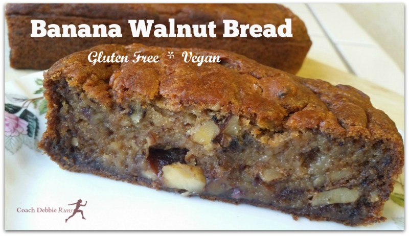 Vegan and gluten free Banana Walnut Bread.
