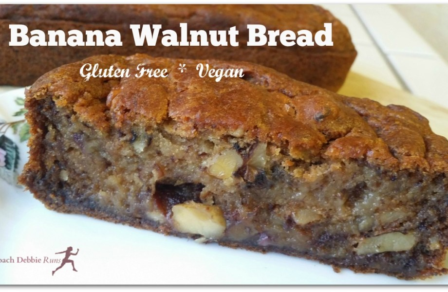 Banana Walnut Bread Recipe Gluten Free and Vegan