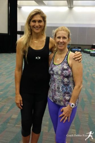 With Gabrielle Reece after her HighX Workout.
