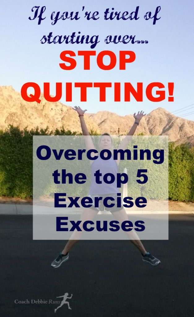 Overcoming the top 5 Exercise Excuses