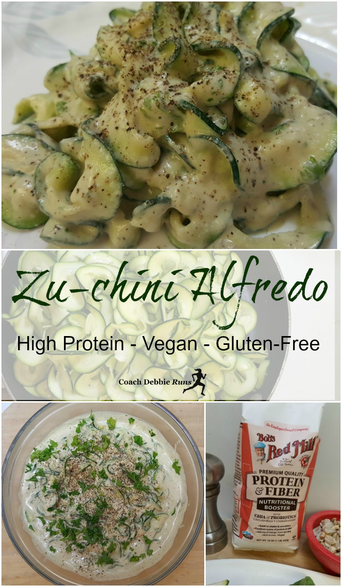 Zu-chini Alfredo Recipe: Vegan, Gluten-Free, High Protein