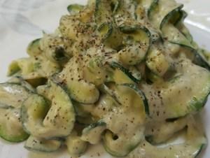 Zu-chini Alfredo Recipe: Vegan, Gluten-Free, High Protein