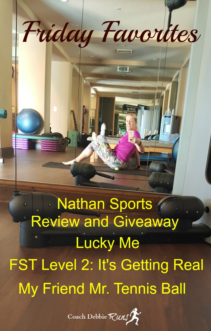 Stop by for Friday Favorites! Check out my review of Nathan Sports hydration and visibility products. Plus enter the giveaway to win your own Run@Work pack!