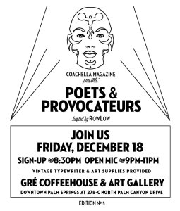 Poets & Provocateurs #5 @ Gré Coffeehouse & Art Gallery | Palm Springs | California | United States