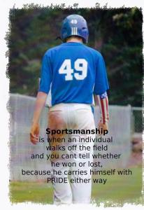 sportsmanship in coaching youth baseball