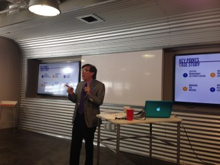 "Rich presenting ""Creating a Culture of Profitability"" at the Capital Factory in Austin"
