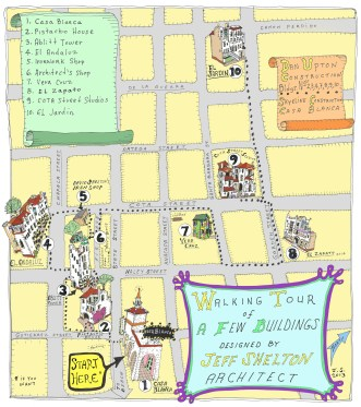 WALKING TOUR POSTCARD- Jeff Shelton, Walking Wednesday