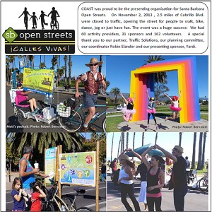 COAST Winter 2103 Newsletter Open Streets Insert