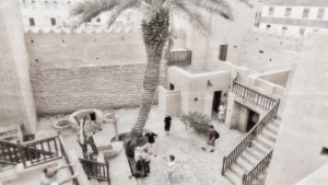 Taqah Castle interior courtyard