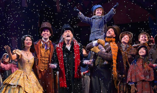 The cast of A Christmas Carol at A.C.T.'s Geary Theater December 4–27, 2015. Photo by Kevin Berne.