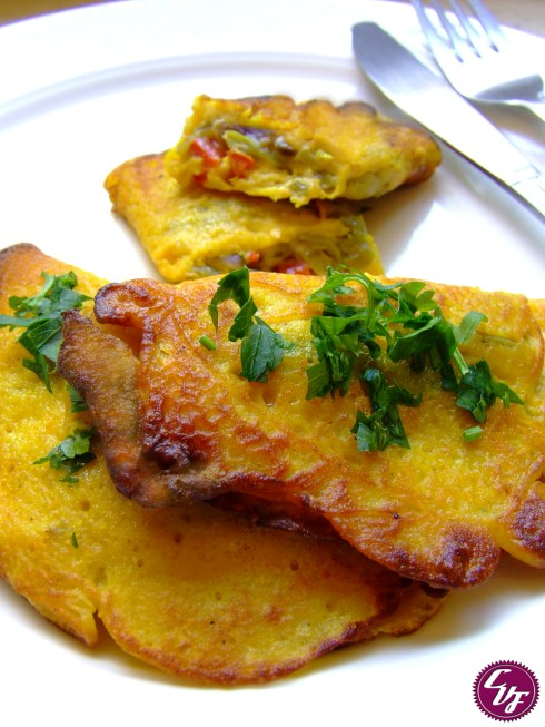Omelette de verduras sin huevo