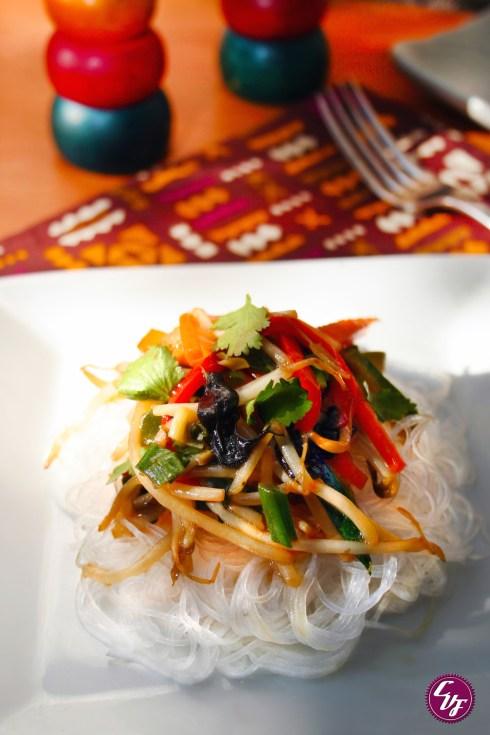 Fideos Pad Thai veganos