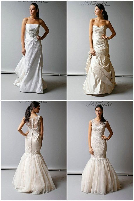 St. Pucchi Wedding Gown Ruched Mermaid