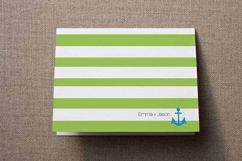 Modern Nautical Thank You Card