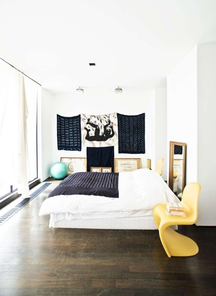 yellow panton chair swoosh loft bedroom bed cococozy trendland