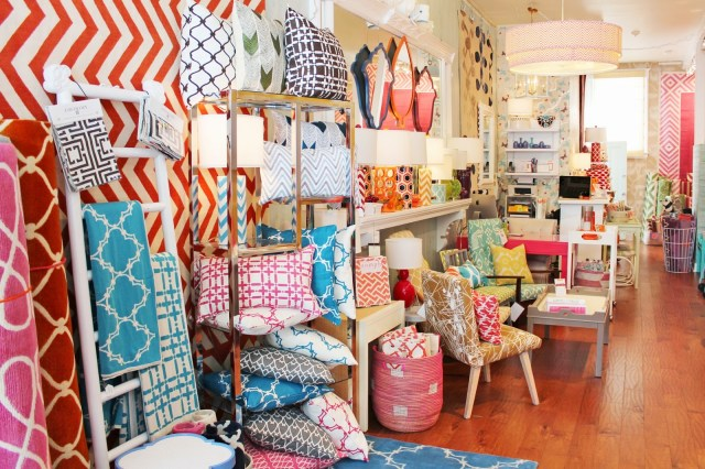 Inside Lotus Bleu boutique store in San Francisco Hayes Valley home furnishings decor