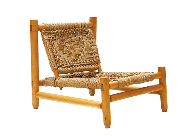 vintage woven chair