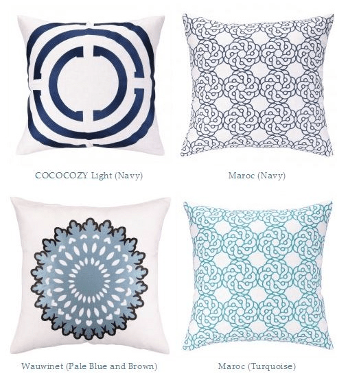 COCOCOZY Embroidered Pillows