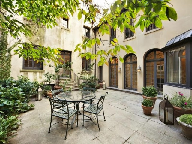 Outdoor patio of a NYC home