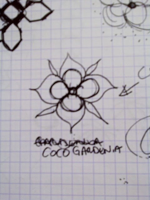 another original drawing for the COCOCOZY Coco's Flower design