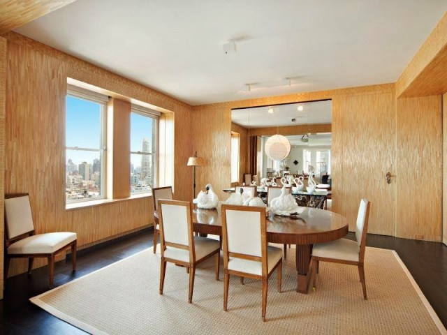 Dining room in a NYC apartment above the Pierre Hotel