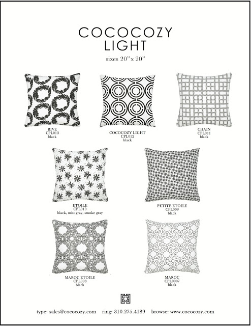 COCOCOZY Light pillow patterns in black