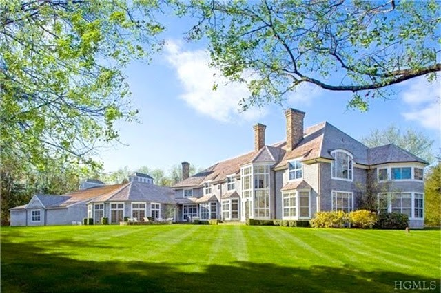 Exterior of a Bedford, NY mansion