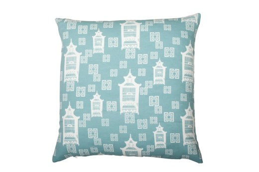 COCOCOZY Cotton Collection pillow in Birdcage Toile