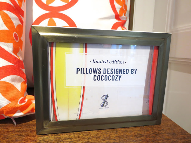COCOCOZY pillows in Tommy Hilfiger's flagship store in Los Angeles