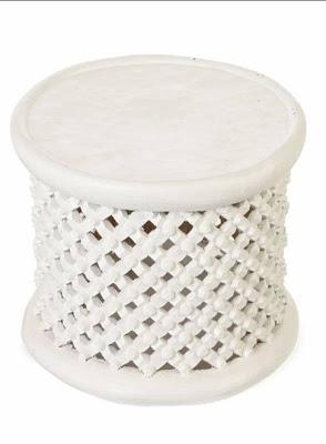 Latticework stool from Anthropologie