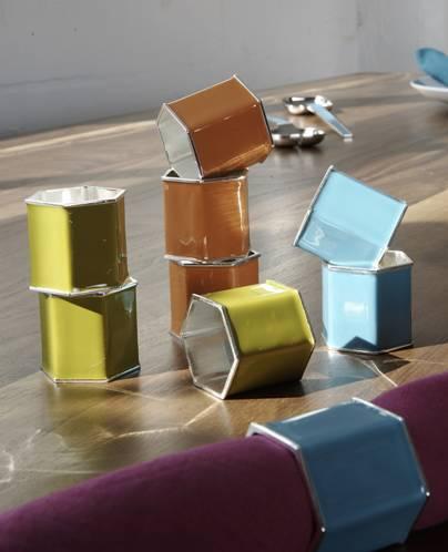 Enamel napkin rings from Jonathan Adler