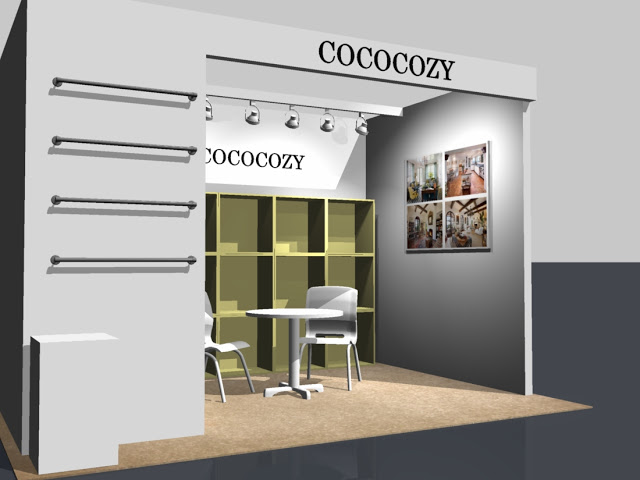 3D rendering of the COCOCOZY booth for the New York International Gift Fair