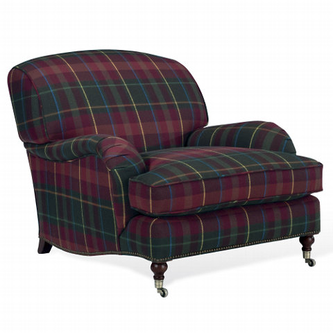 Plaid upholstered armchair from Ralph Lauren Home